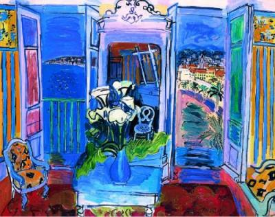 Raoul-Dufy-Interior-with-Open-Window-207087